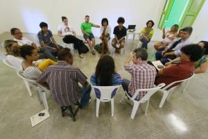 Encontro do Secretário Fabiano dos Santos com a Comissão de Gestão Compartilhada no CCBJ. Foto Felipe Abud.